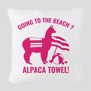 Alpaca Towel Woven Throw Pillow