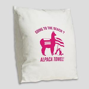 Alpaca Towel Burlap Throw Pillow