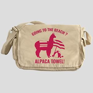 Alpaca Towel Messenger Bag