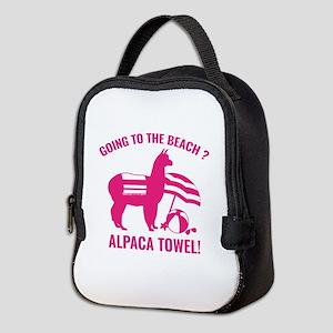 Alpaca Towel Neoprene Lunch Bag