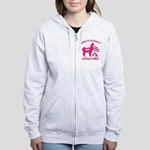 Alpaca Towel Women's Zip Hoodie
