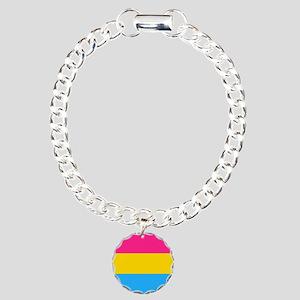 Pansexual Pride Flag Charm Bracelet, One Charm