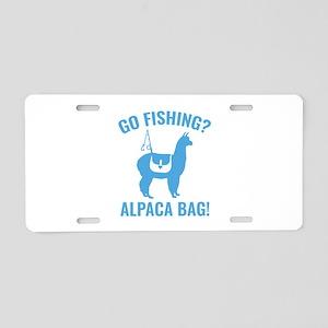 Alpaca Bag! Aluminum License Plate