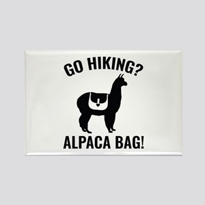 Go Hiking? Alpaca Bag! Rectangle Magnet