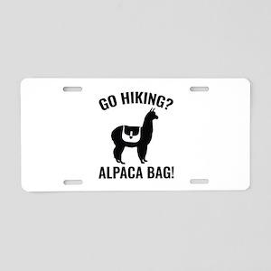 Go Hiking? Alpaca Bag! Aluminum License Plate