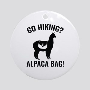 Go Hiking? Alpaca Bag! Ornament (Round)