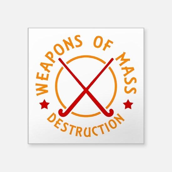 Field Hockey Weapons of Destruction Sticker