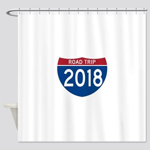 Road Trip 2018 Shower Curtain