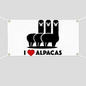 I Love Alpacas Banner