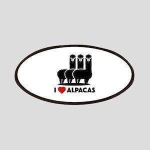 I Love Alpacas Patches