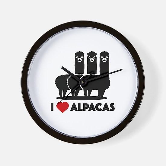 I Love Alpacas Wall Clock