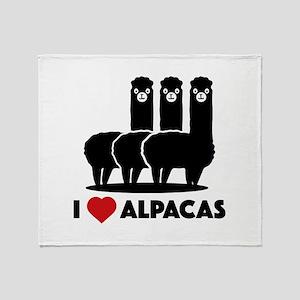 I Love Alpacas Stadium Blanket