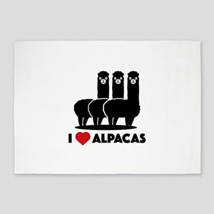 I Love Alpacas 5'x7'Area Rug