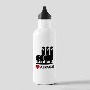 I Love Alpacas Stainless Water Bottle 1.0L
