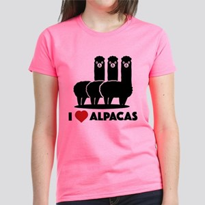 I Love Alpacas Women's Dark T-Shirt