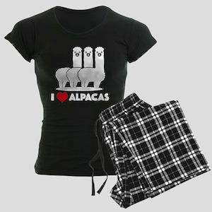 I Love Alpacas Women's Dark Pajamas