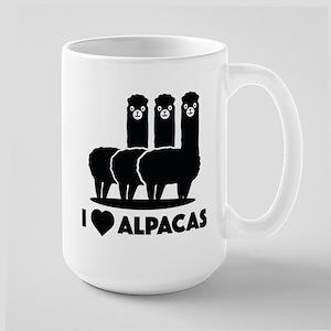 I Love Alpacas Large Mug