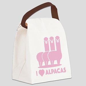 I Love Alpacas Canvas Lunch Bag