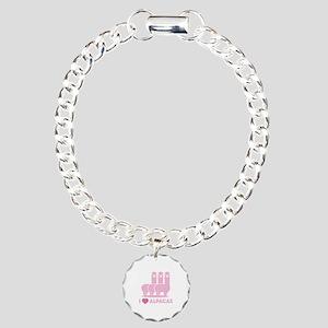 I Love Alpacas Charm Bracelet, One Charm