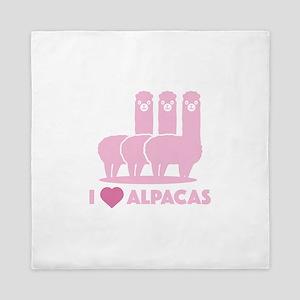 I Love Alpacas Queen Duvet