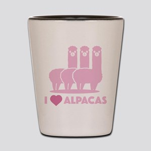 I Love Alpacas Shot Glass