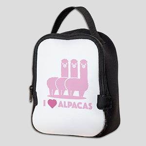 I Love Alpacas Neoprene Lunch Bag