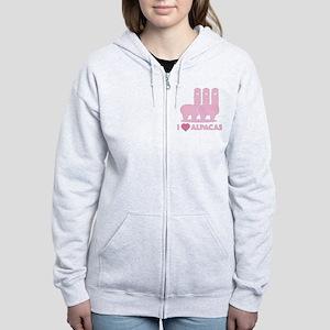 I Love Alpacas Women's Zip Hoodie