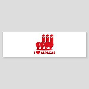 I Love Alpacas Sticker (Bumper)