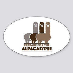 Prepare For The Alpacalypse Sticker (Oval)