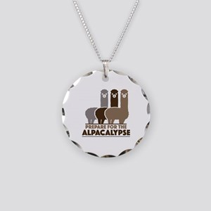 Prepare For The Alpacalypse Necklace Circle Charm