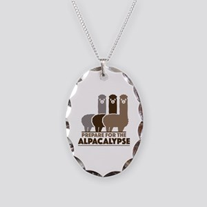 Prepare For The Alpacalypse Necklace Oval Charm
