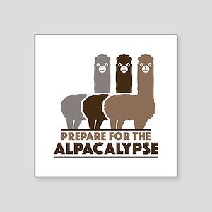 """Prepare For The Alpacalypse Square Sticker 3"""" x 3"""""""