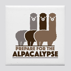 Prepare For The Alpacalypse Tile Coaster