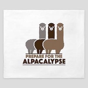 Prepare For The Alpacalypse King Duvet