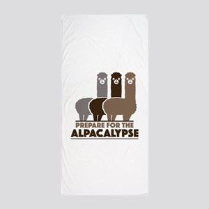 Prepare For The Alpacalypse Beach Towel