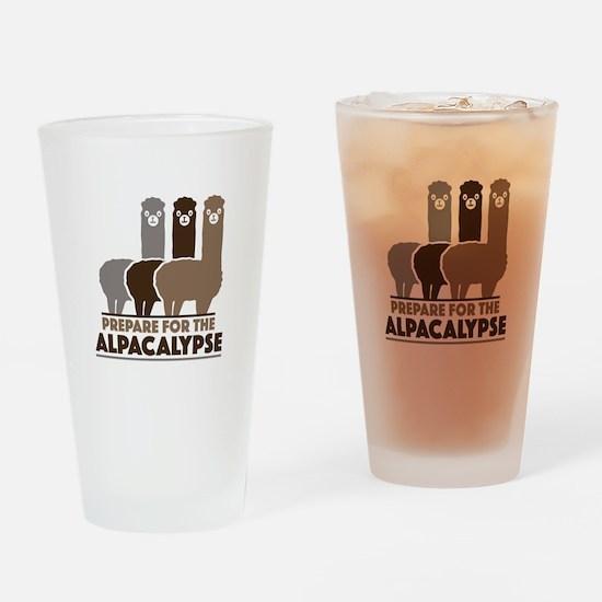 Prepare For The Alpacalypse Drinking Glass