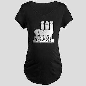 Prepare For The Alpacalypse Maternity Dark T-Shirt