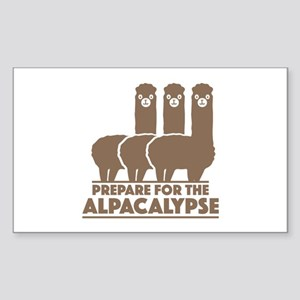Prepare For The Alpacalypse Sticker (Rectangle)