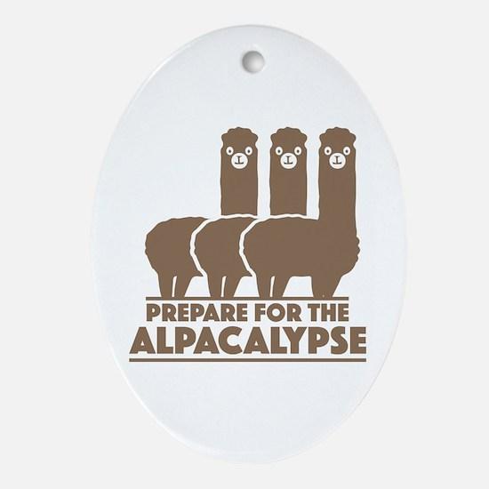 Prepare For The Alpacalypse Ornament (Oval)