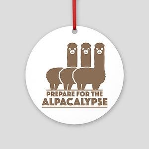 Prepare For The Alpacalypse Ornament (Round)