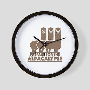 Prepare For The Alpacalypse Wall Clock