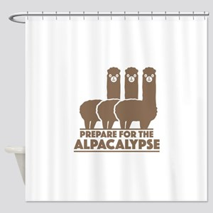 Prepare For The Alpacalypse Shower Curtain
