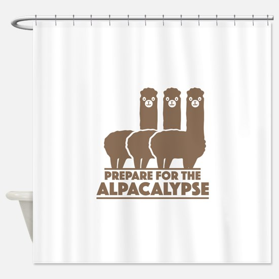 Prepare For The Alpacalypse Shower Curtain