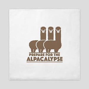 Prepare For The Alpacalypse Queen Duvet
