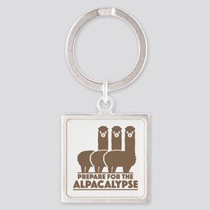 Prepare For The Alpacalypse Square Keychain