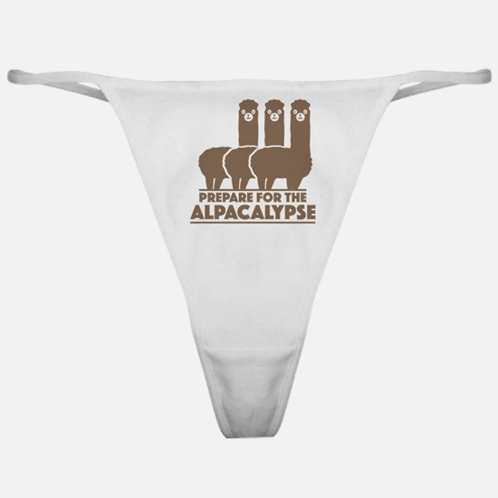 Prepare For The Alpacalypse Classic Thong