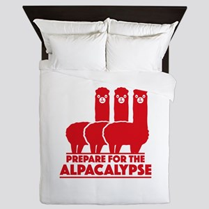 Prepare For The Alpacalypse Queen Duvet
