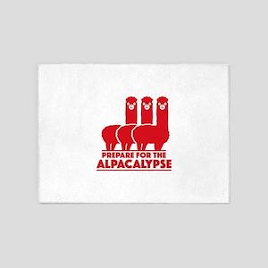 Prepare For The Alpacalypse 5'x7'Area Rug