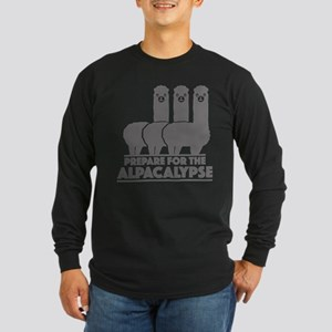 Prepare For The Alpacalypse Long Sleeve Dark T-Shi