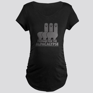 Prepare For The Alpacalypse Maternity Dark T-Shirt